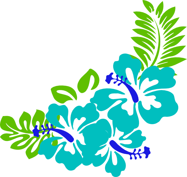 tropical leaves clipart blue green tropical flowers clip art rh pinterest com tropical flowers clipart free