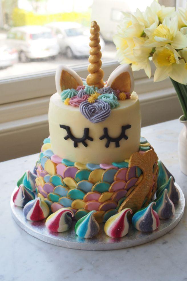 Unicorn Mermaid Cake | Birthday baking, Mermaid cakes, 6th ...