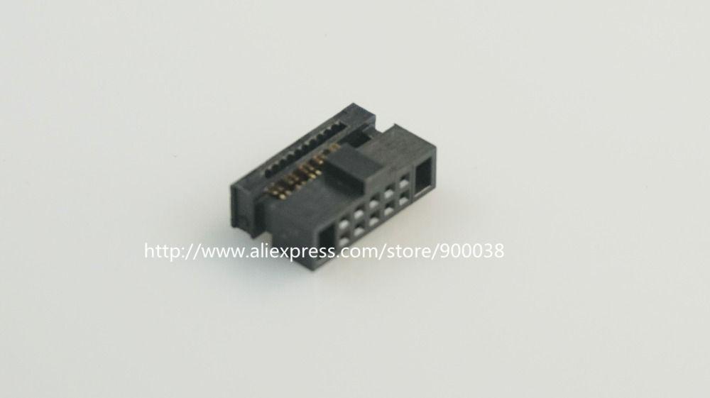 10 Unids 0 050 1 27mm 10 Pin Dual Row Idc Conector 2x5 P 10 Posicion Rectangular Hembra Receptaculo Del Cable De Light Accessories Electrical Equipment Cable