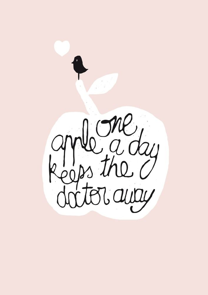 one apple a day kees the doctor away