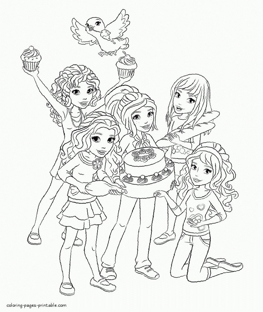 25+ Brilliant Image of Lego Friends Coloring Pages ...