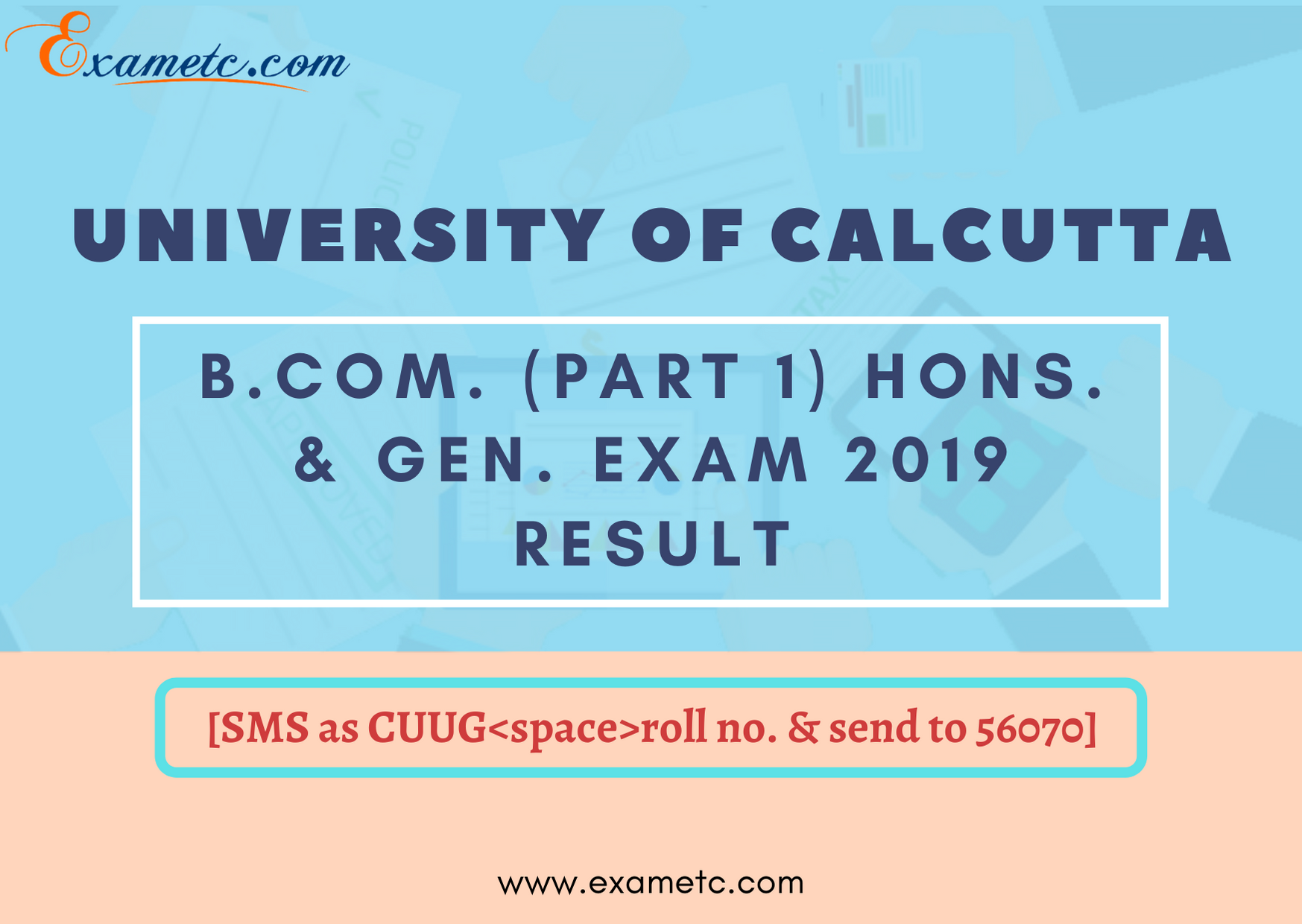 Calcutta University Exam Result 2019 in 2020