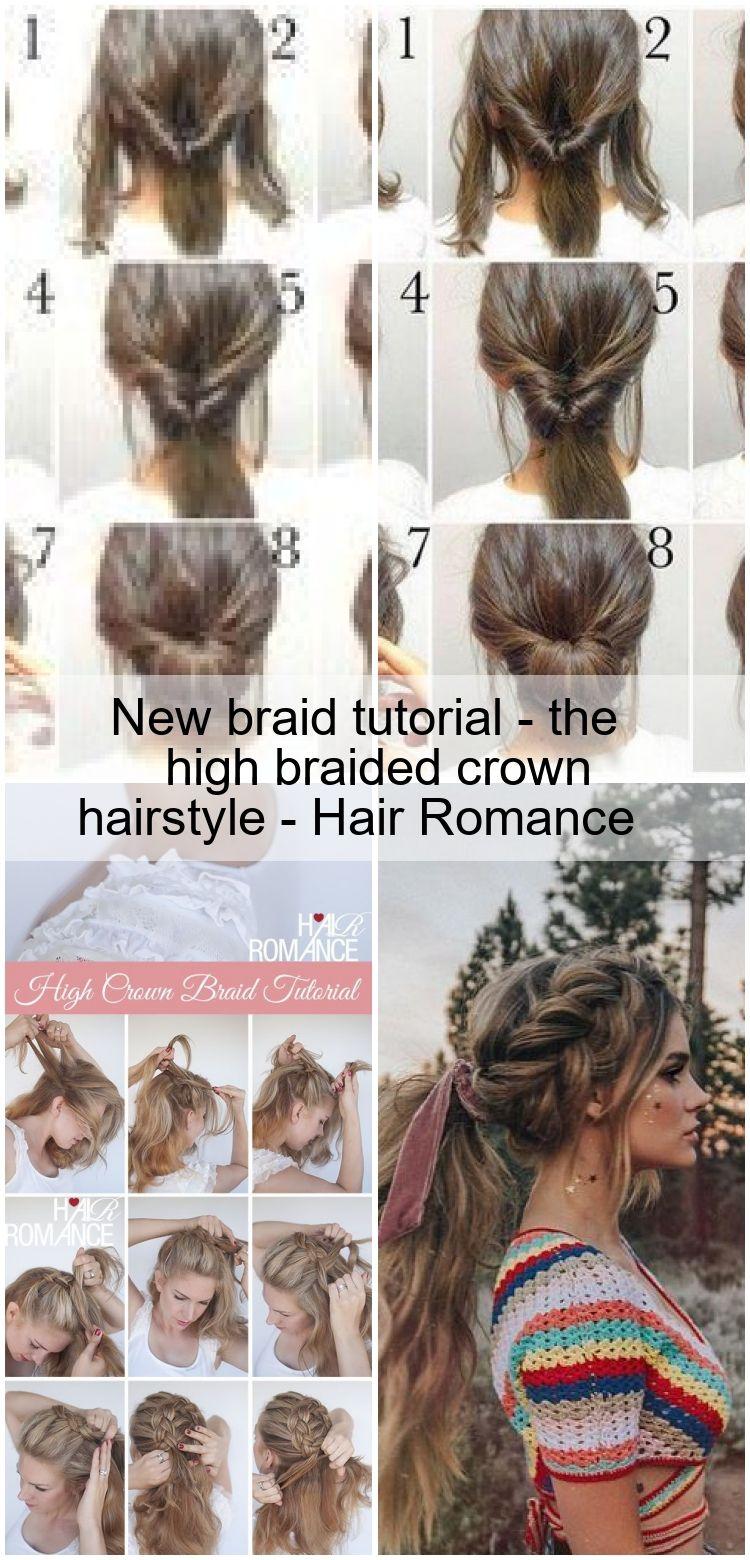 New Braid Tutorial The High Braided Crown Hairstyle Hair Romance In 2020 Braided Crown Hairstyles Hair Styles Crown Braid