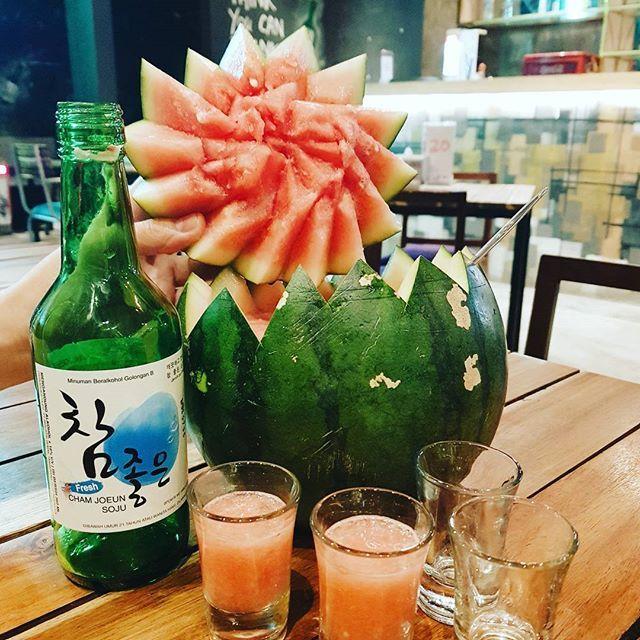 """Watermelon Soju! 🍉🍉🍉 • •  #watermelonsoju #anjusojubar #fridaynight #marriagelife #traveler #wanderlust #travelblogger #travelblog #travelgram #travelingram #traveladdict #worldtraveler #photoshoot #photoart #photography #photographyislife #photographer #amateurphotography #amateurphotographer #designer #graphicdesigner #likeforlike #like4like #instapic #instadaily #instatravel #adventure #lifestyle #fujifilmx70"" by @verlynanggono. #pic #picture #photos #photograph #foto #pictures…"