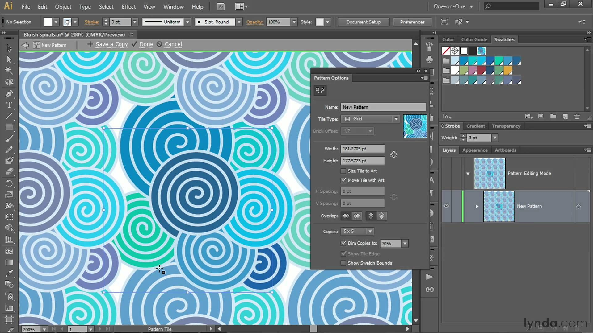 Illustrator tutorial: Using the new Pattern Generator | lynda.com ...