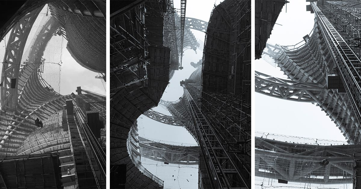 "Zaha Hadid Architects Unveil Photographs of ""World's Tallest Atrium"" Under Construction in Beijing"