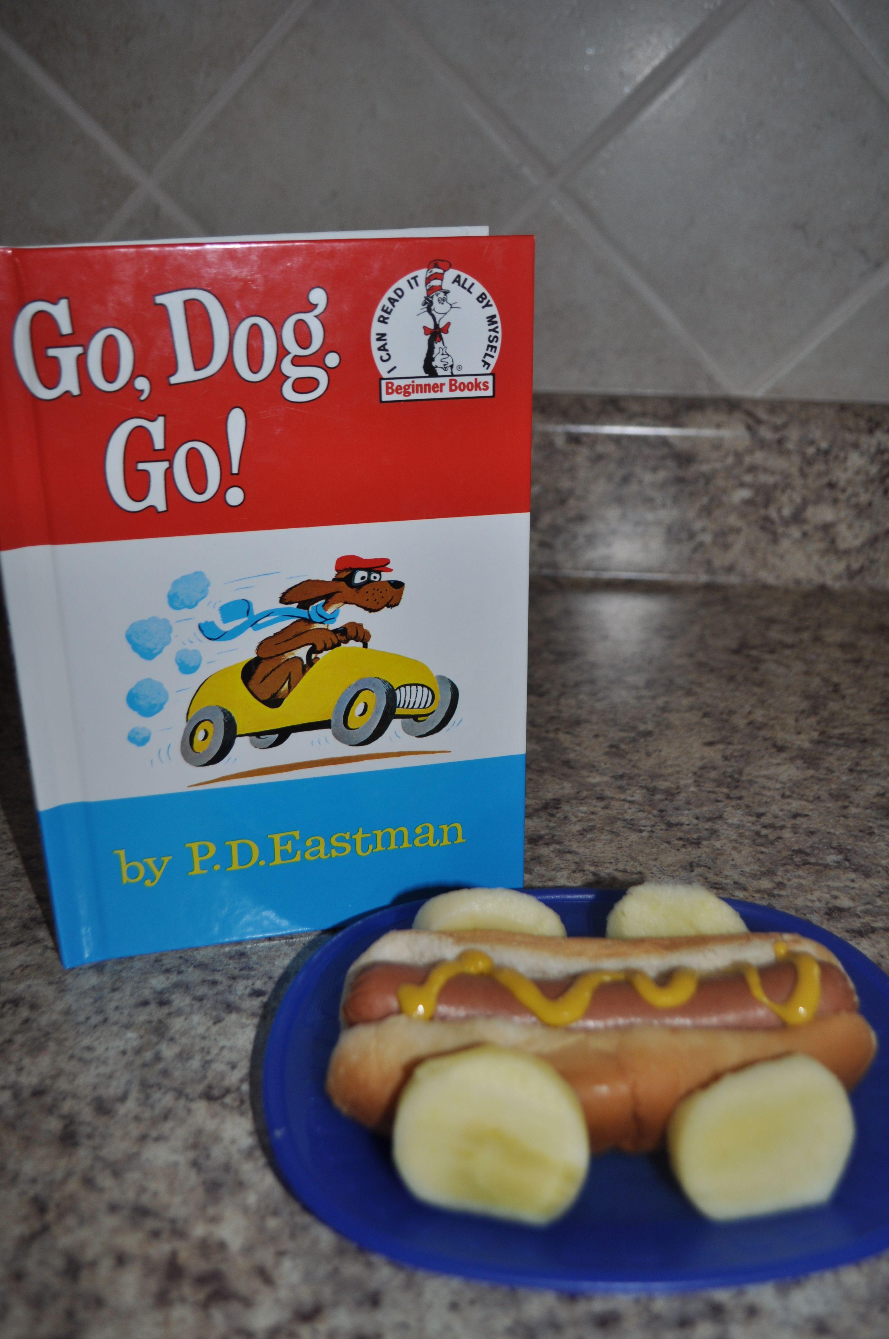 Dr seuss birthday lunchgo dog go hot dog car with