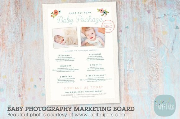 IB003 Baby\u0027s First Year Photography by Paper Lark on @creativemarket