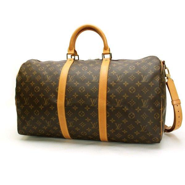 282c46c5076e Louis Vuitton Keepall Bandouliere 50 Monogram Luggage Brown Canvas M41416