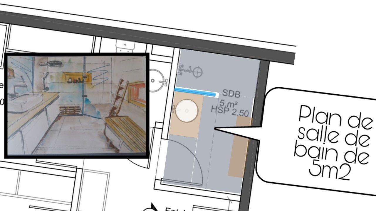 Aménagement salle de bain 19m19  Salle de bain 19m19, Aménagement