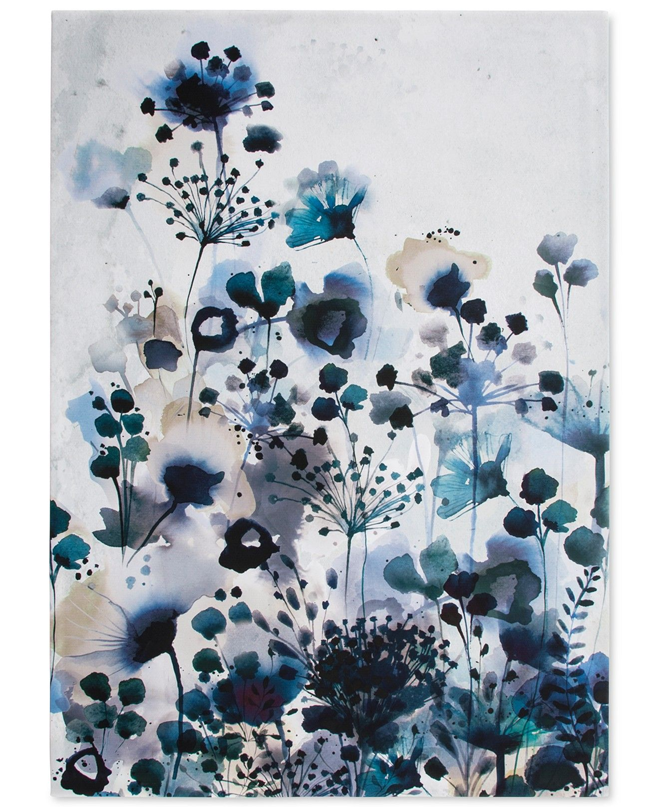 Watercolor Wall Art graham & brown moody blue watercolor wall art | watercolor walls