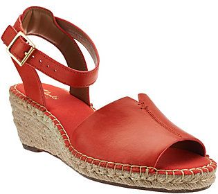 922e11cf410a Clarks Artisan Leather Espadrille Wedge Sandals - Petrina Selma ...