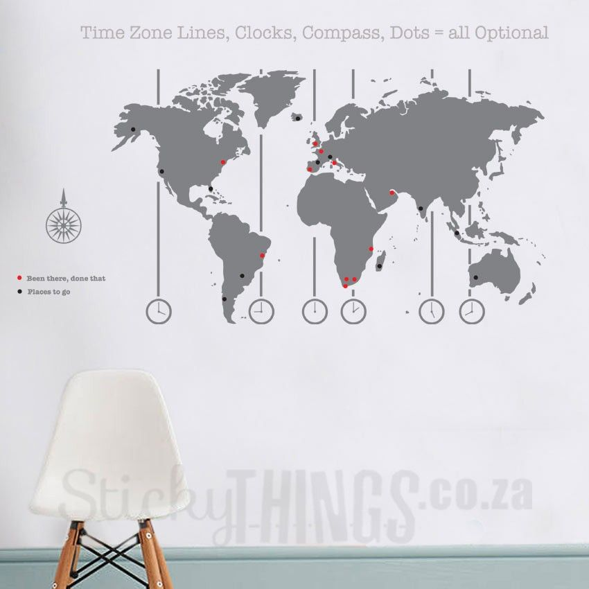 World Map Decal   World Map Wall Art South Africa