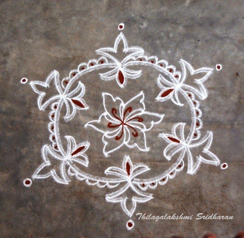 Rangoli And Art Works Dotted Kolam 7 4 Dots Dotted Kolam
