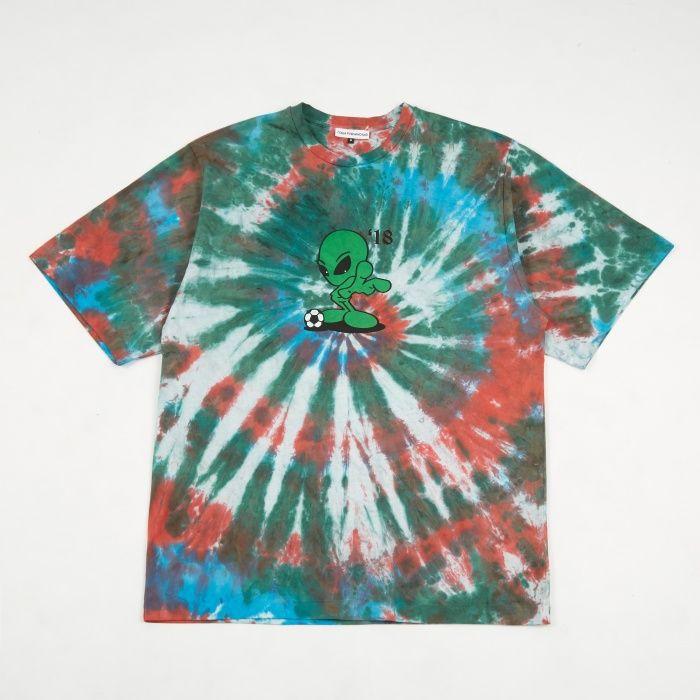 2ca793094 Gosha Rubchinskiy Alien Tie Dye Oversized T-Shirt - Green Blue (Image 1)