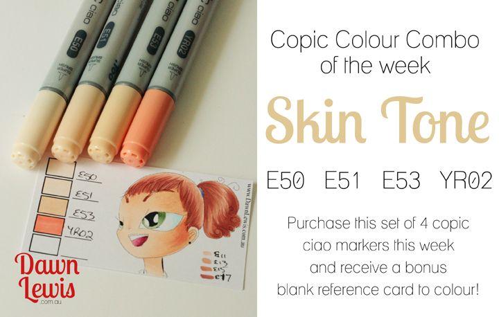 copic colour combo skin tone - Skin Color Markers