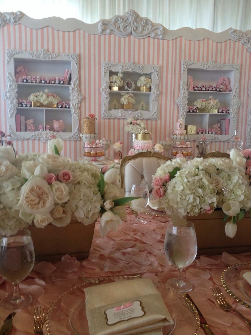 Decóración del baby shower de Adamari López | Events styling ...