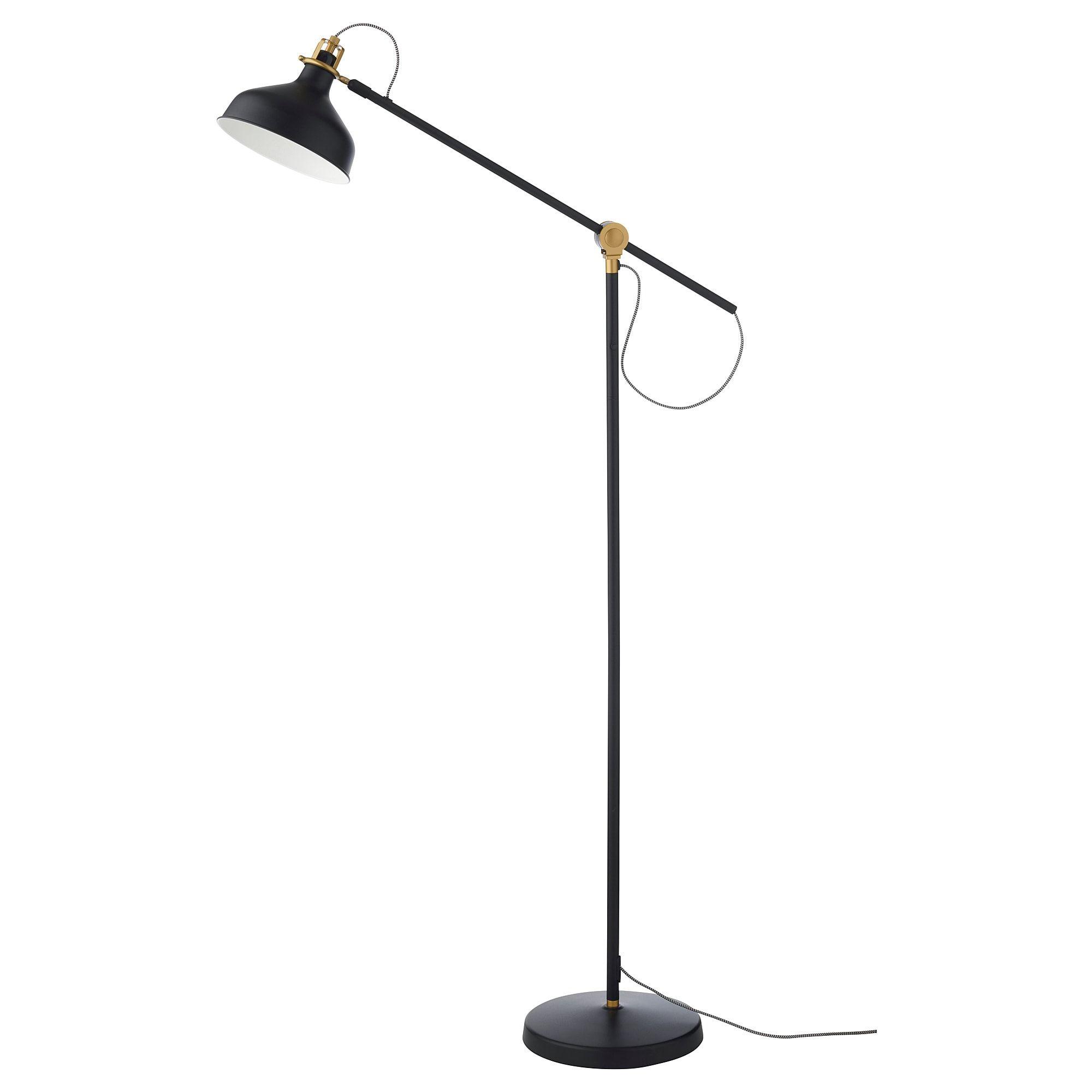 Ikea Ranarp Black Floor Reading Lamp With Led Bulb Ikea Floor
