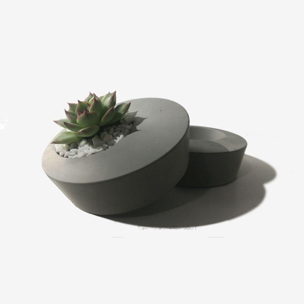 Silicone Mold Home Decoration Crafts Succulent Plants Concrete Planter