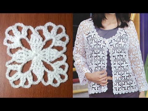 Chaqueta de verano al crochet / patrones y video | Crochet y Dos agujas
