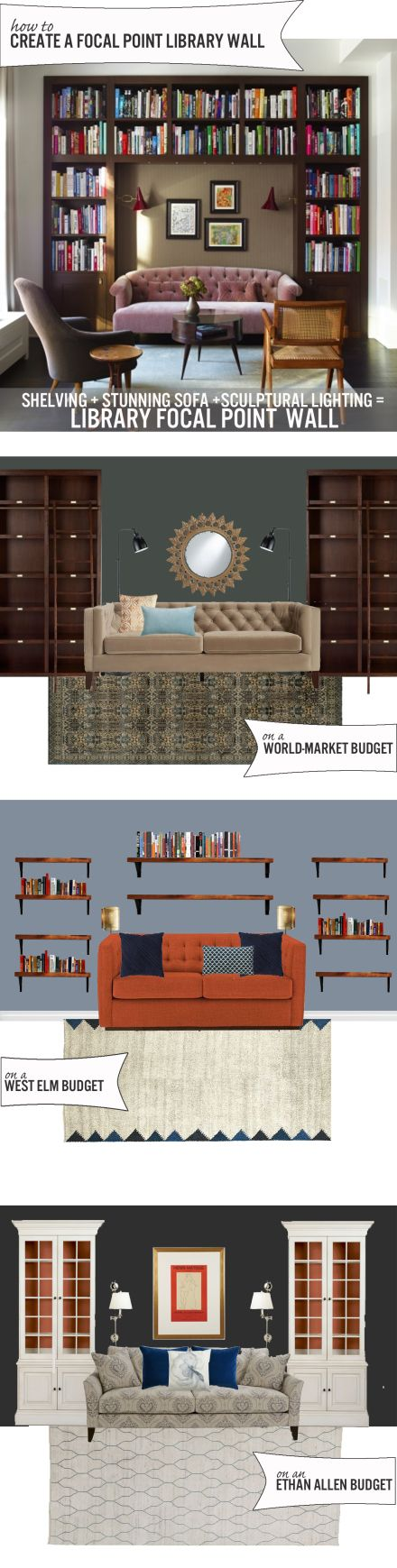 Create a Library Focal Point Wall on Any Budget www