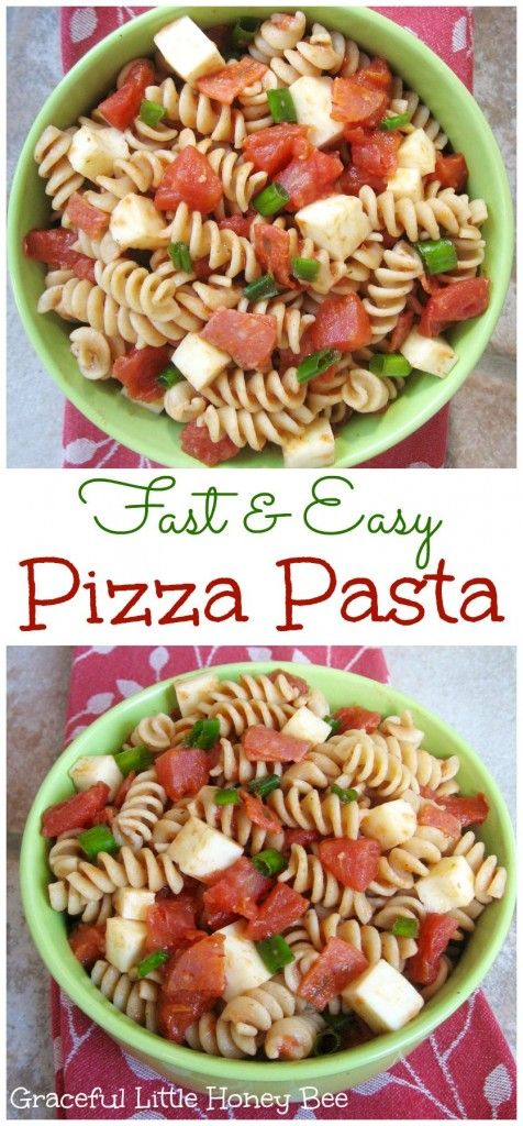 Fast and Easy Pizza Pasta recipe on gracefullittlehoneybee.com #ad #YesYouCAN