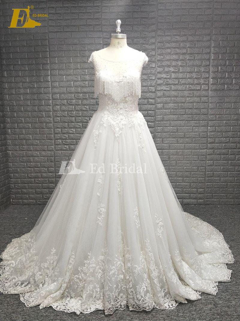 Beading Ed Real Sample Wedding Dress Whats 008615152463038