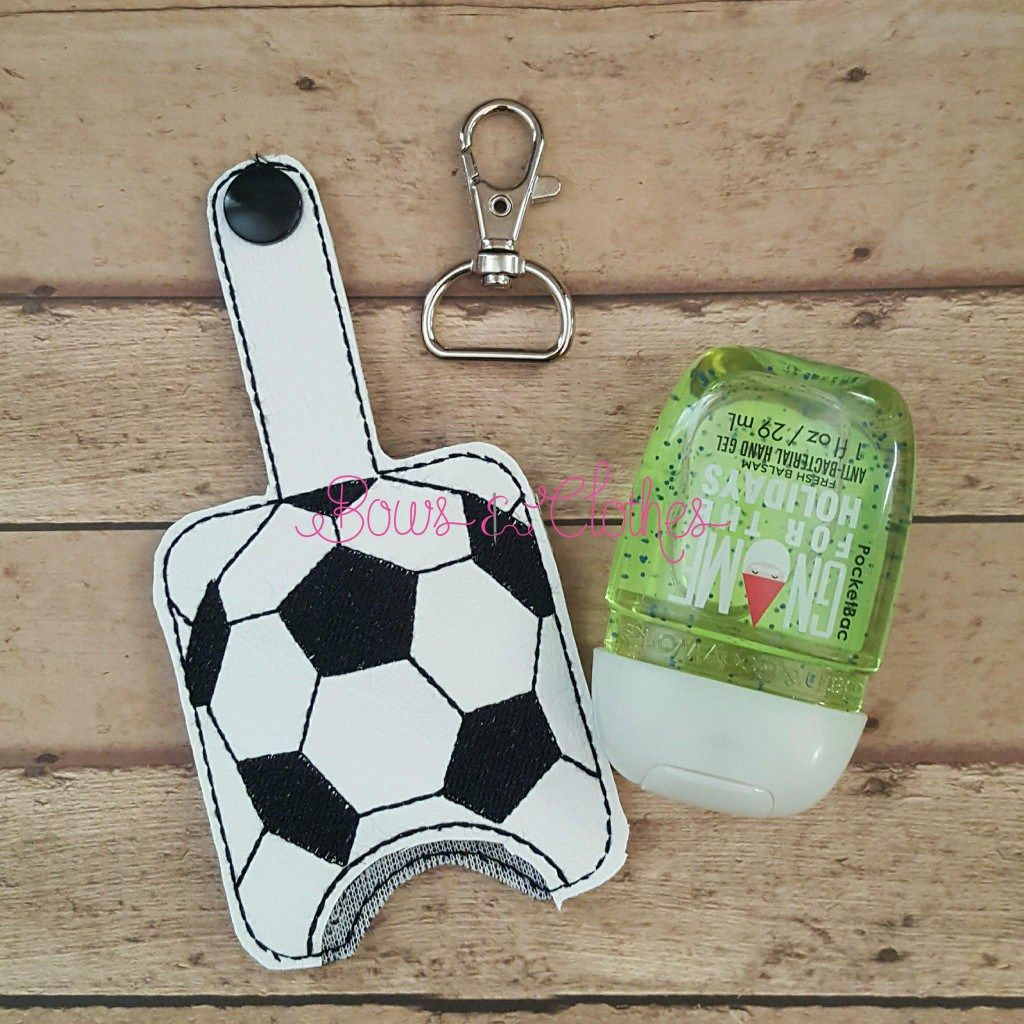 Soccer Hand Sanitizer Case Snap In Back Hand Sanitizer Holder
