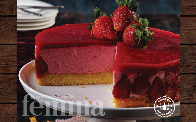 Resep Strawberry Mousse Cake Resep Adonan Puding Roti