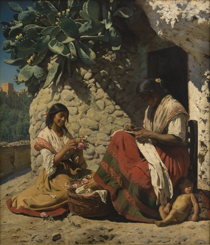 Two_gypsy_women_outside_their_home_(1878_painting).