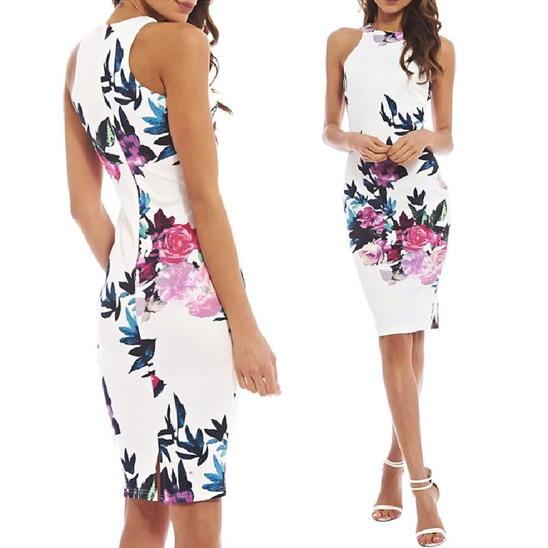 Fashion Sexy Women Floral Casual Party Evening Cocktail Short Minidress Sundress