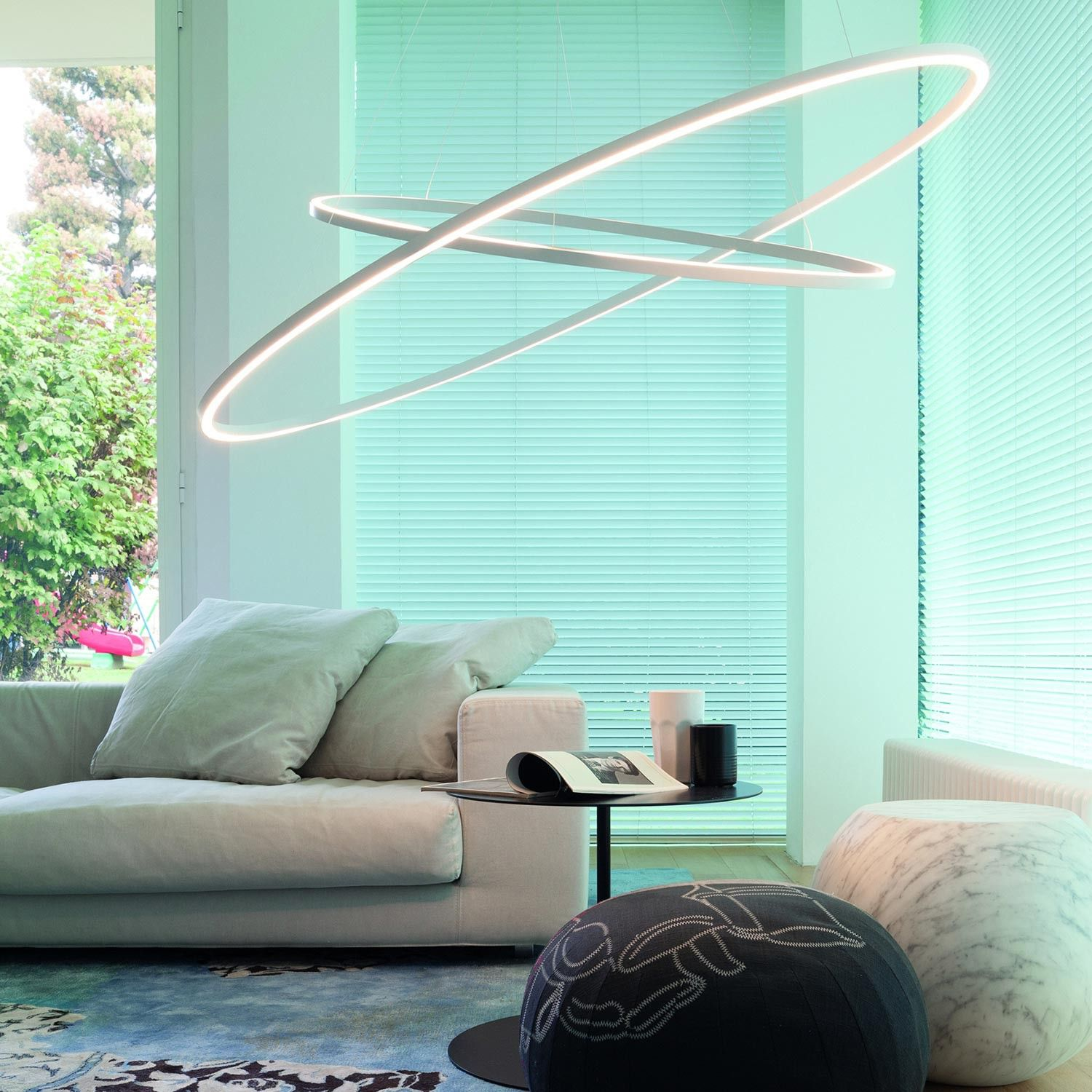 Ellisse Pendant Double LED Pendant Lamp, Available In Three Versions:  Major, Minor And