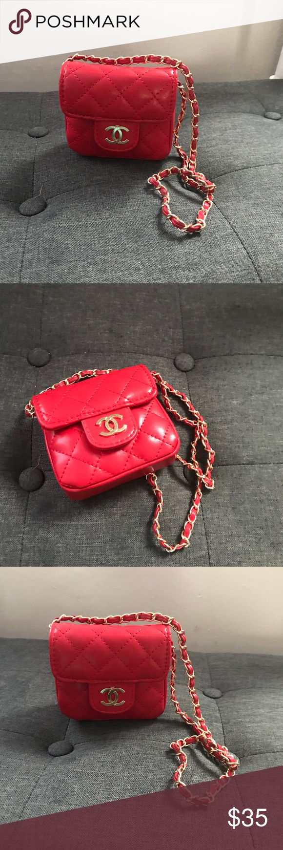 6dbf9071d4ed Mini Children bag Mini Chanel inspired bags for kids Accessories Bags