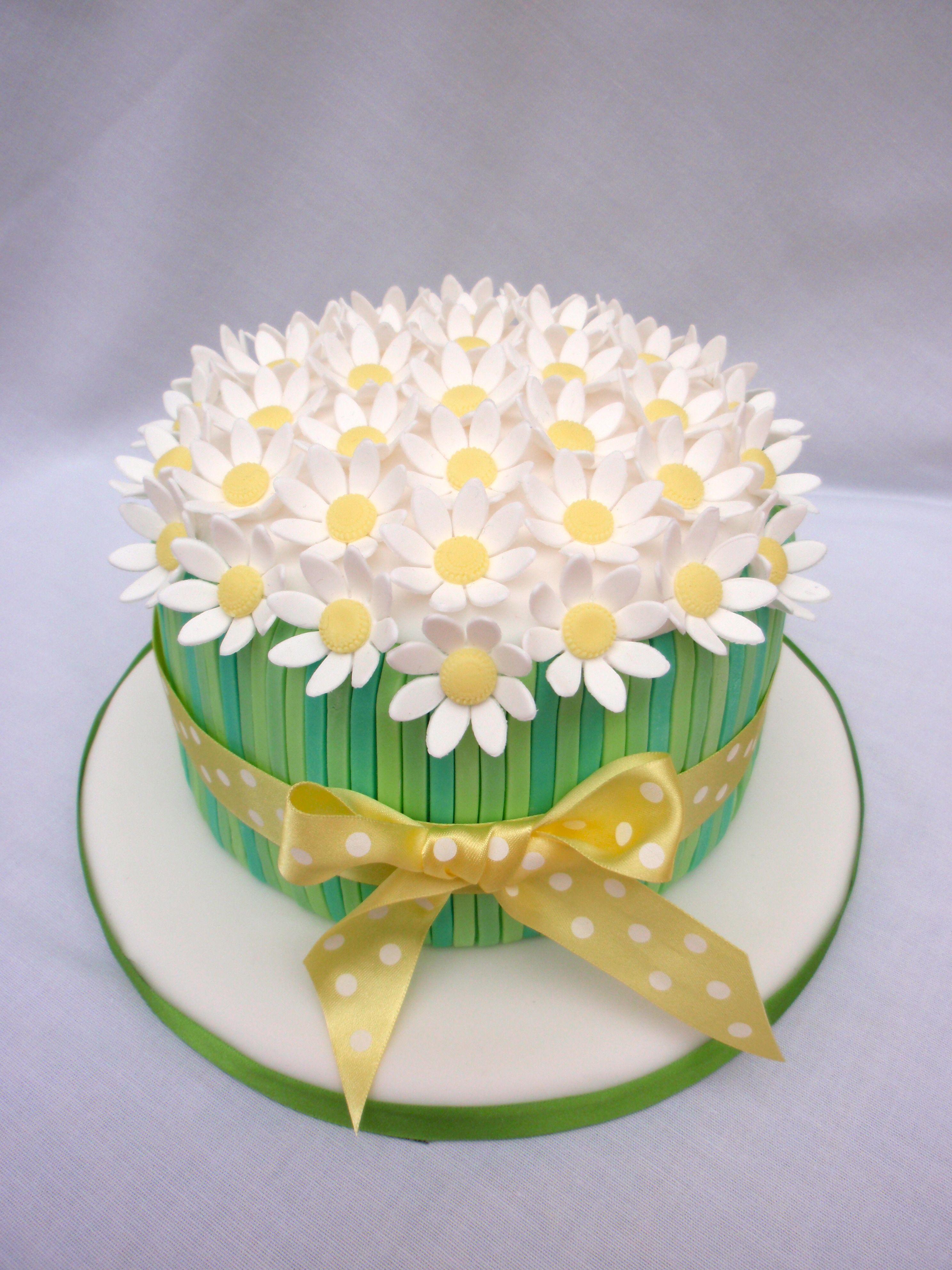 Groovy Daisy Birthday Cake With Images Daisy Cakes Birthday Cake Funny Birthday Cards Online Elaedamsfinfo