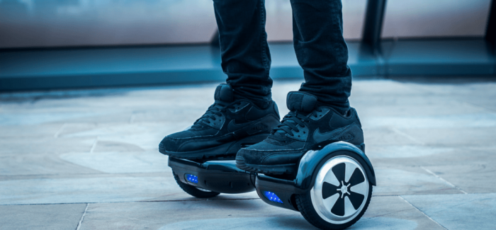 Image of a person riding a hoverboard