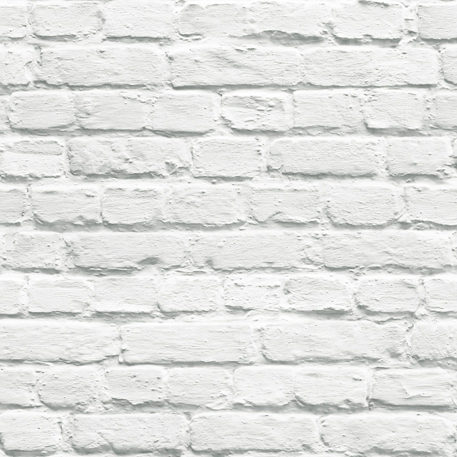 Details About White Brick Effect Wallpaper