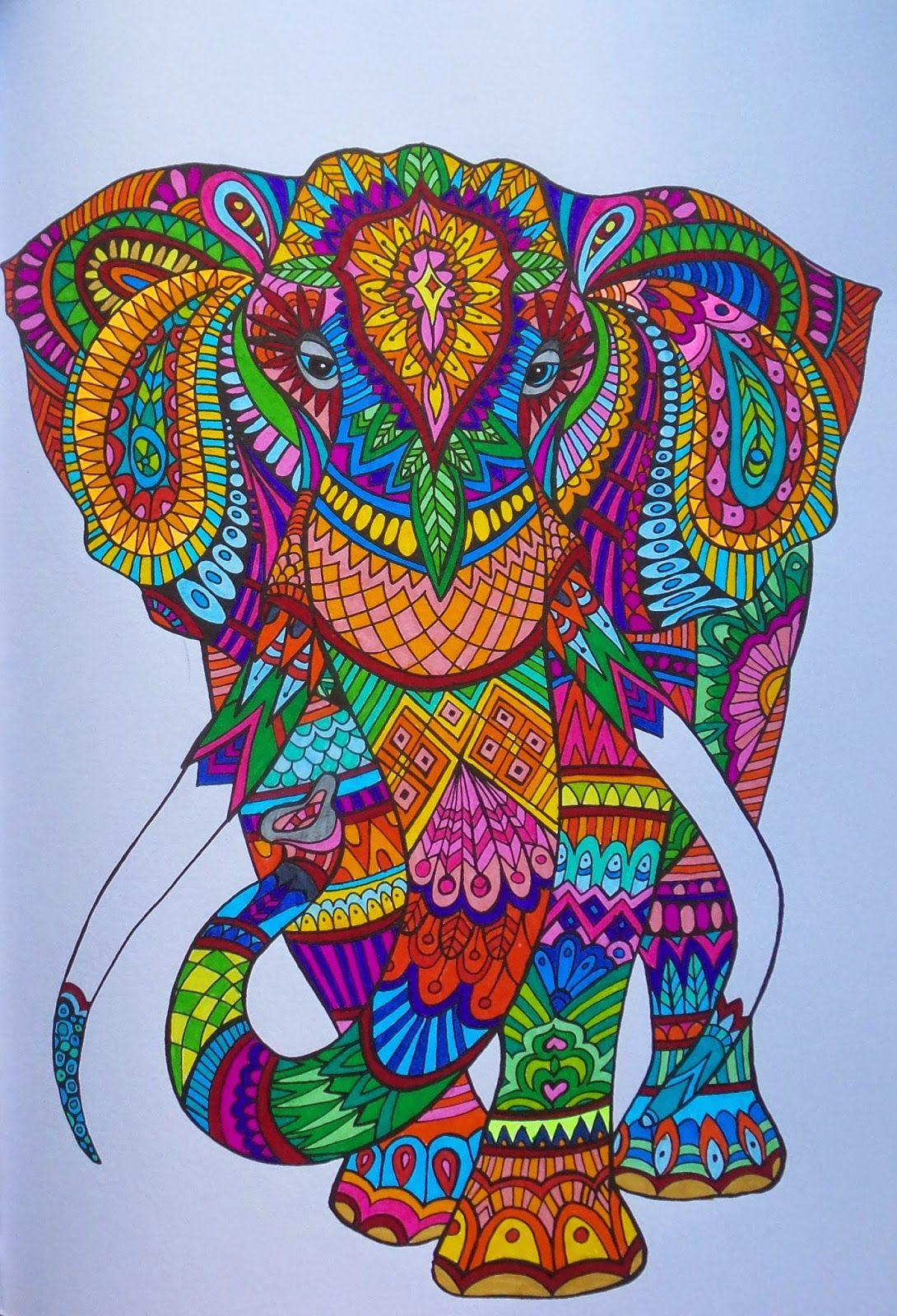 Het Enige Echte Kleurboek Voor Volwassenen Girlscene Forum Olifant Kunst Kleurboek Mandala Kleurplaten