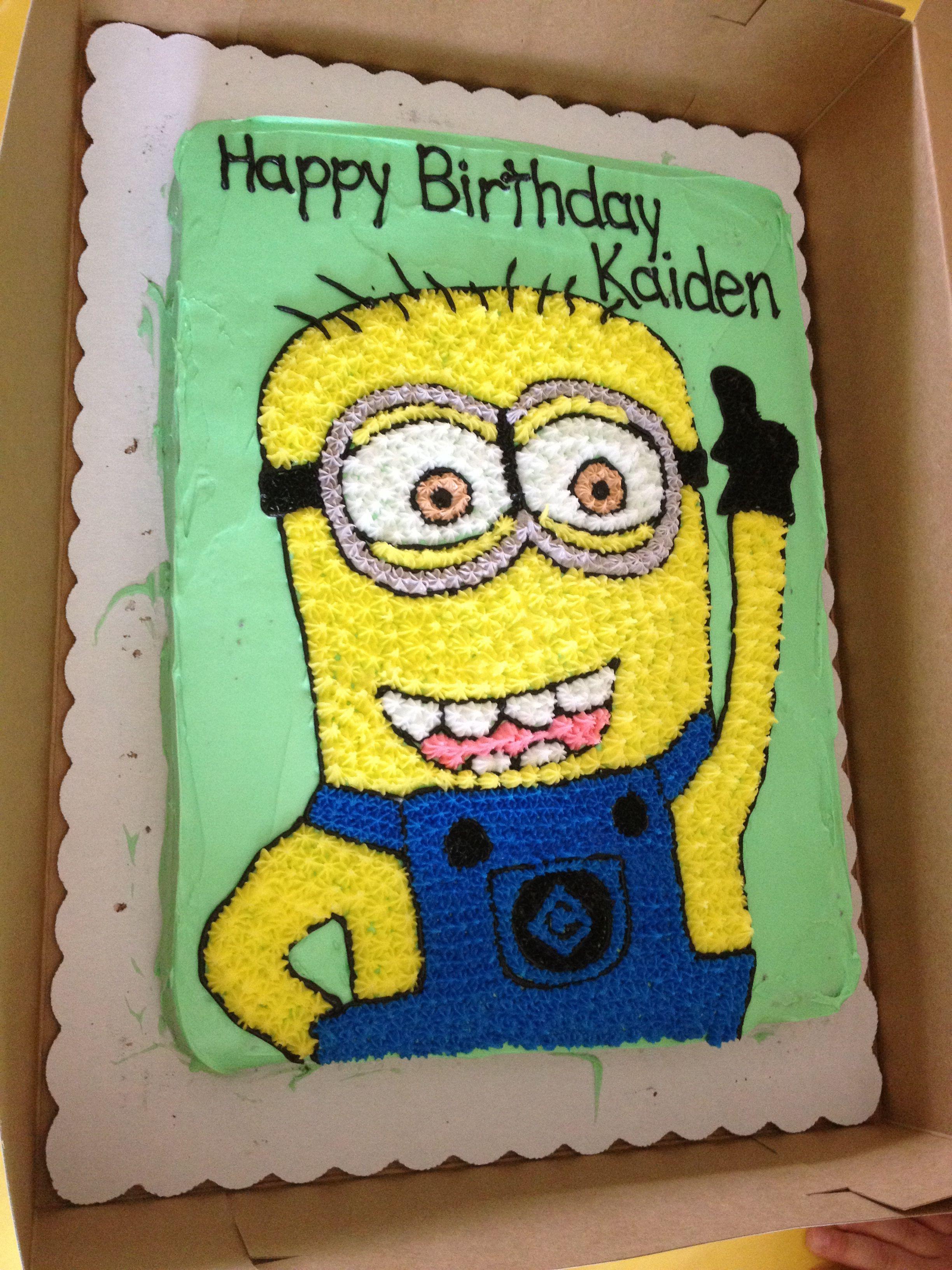 Minion Birthday Cake For My Nephew Birthday Ideas For The Kids