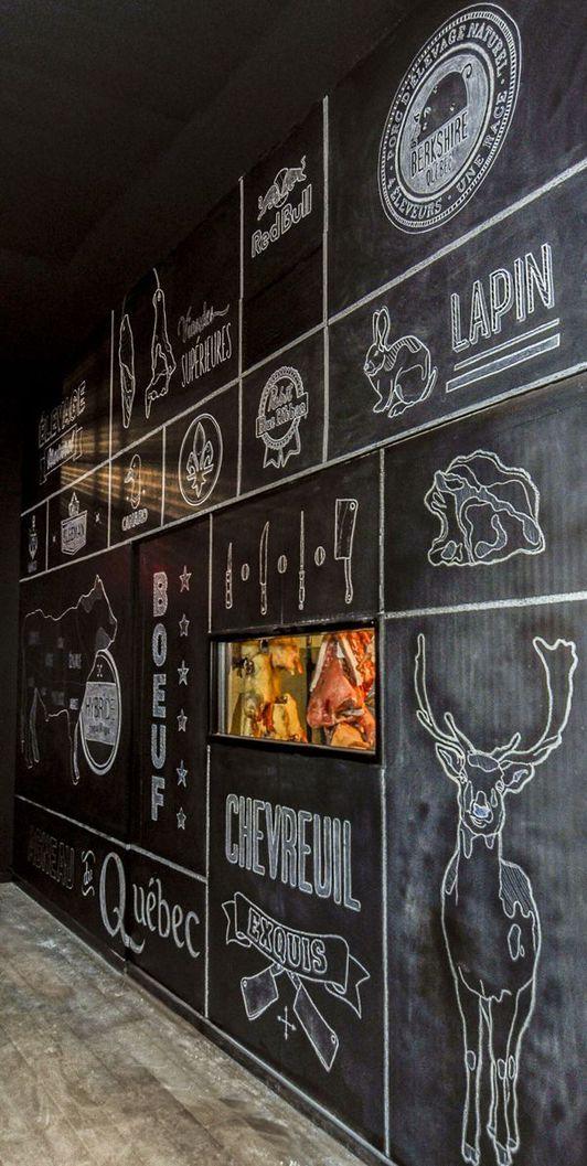 Diy Chalkboard Paint Ideas Art Restaurant Restaurant Interior Design Restaurant Decor