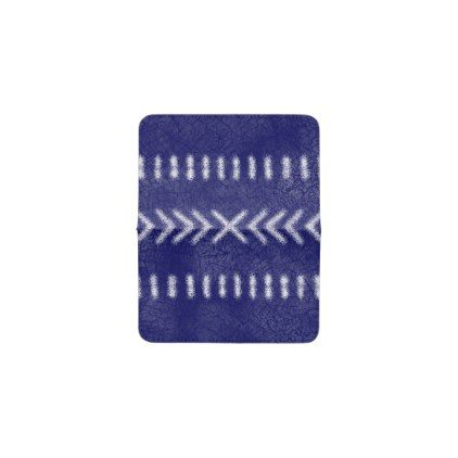 Minimalist tribal pattern on navy blue business card holder colourmoves