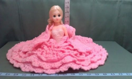 Crafts - CHM00045 - Crochet - Handmade Doll with pink dress & shawl