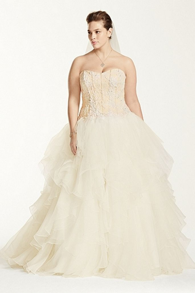 cdc8a908ade7c 3 Simple Tips for Choosing a Plus-Size Wedding Dress for a Fuller Figure -  dress by Oleg Cassini