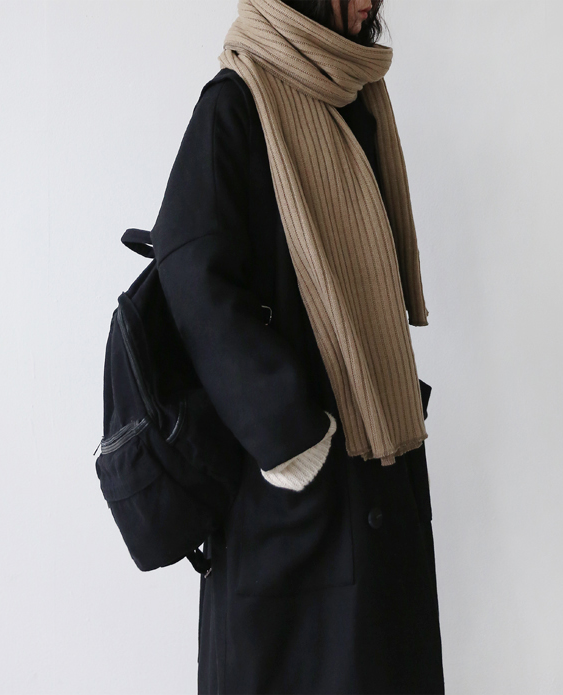 Rucksack and Double Wrapped Scarf
