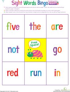Kindergarten Sight Words Bingo | Kids Stuff | Sight word bingo ...