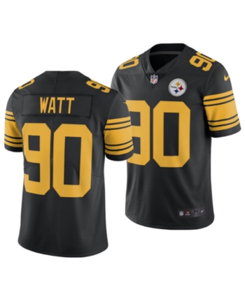 check out 5fe50 40ae2 Nike Men's T.j. Watt Pittsburgh Steelers Limited Color Rush ...