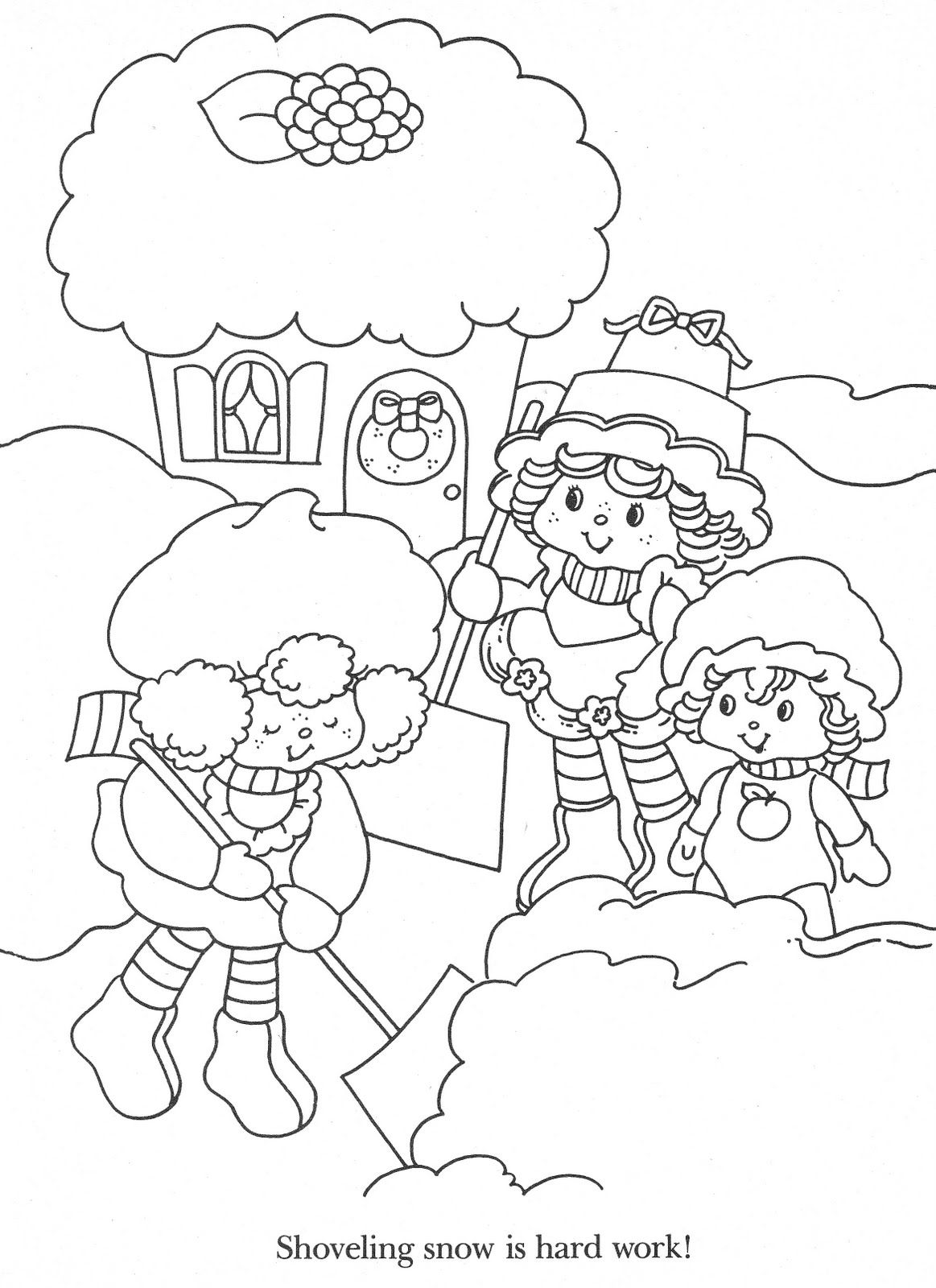 christmas strawberry shortcake coloring pages-#10