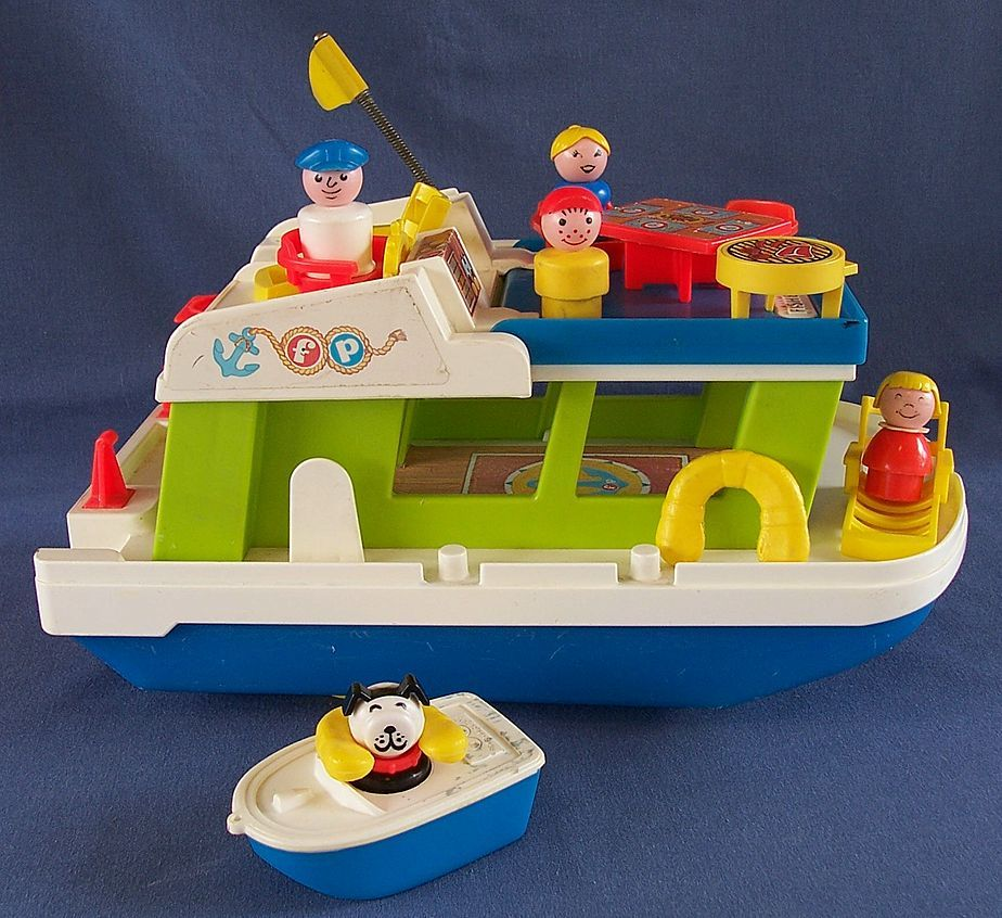 Little People Houseboat. Bath Time Toy Closely Weebles Submarine