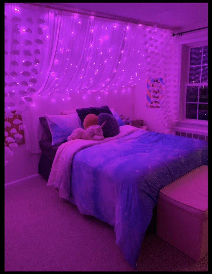 Purple Led Curtain Lights Cute Room With Led Lights Cuteroomwithledlights Curtain Led Lights Descripti Room Ideas Bedroom Neon Bedroom Redecorate Bedroom