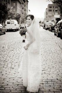 black and white, bridal