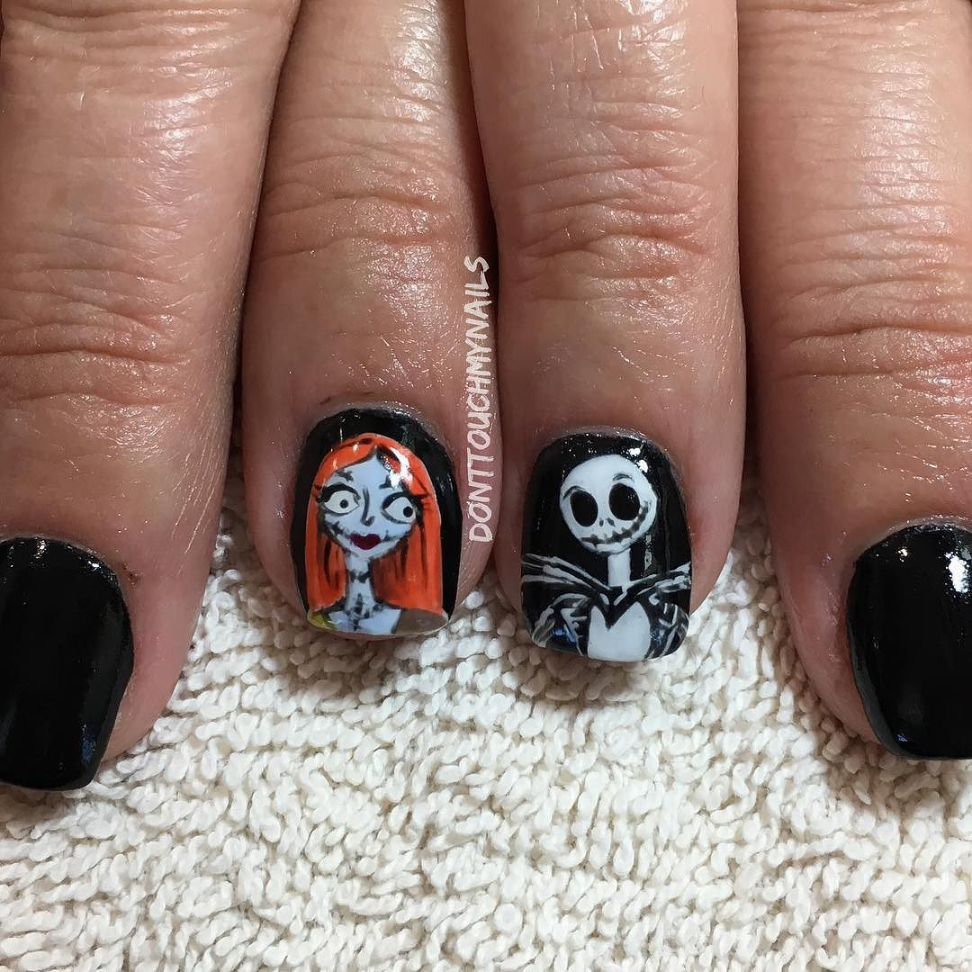 Nail art by me! A little NBC Jack and Sally action today. Are your ...